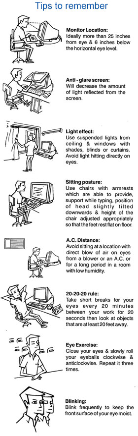 Computer Vision Syndrome Tips to Remember - Eye Disorders